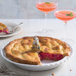 Rhubarb Pistachio Pie
