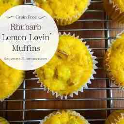 Rhubarb Lemon Lovin' Muffins