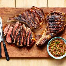 Rib-Eye Steak with Caponata