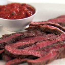Rib-Eye Steaks with Smokey Arrabiata Sauce