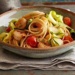 Ribbony Shrimp and Pasta Scampi
