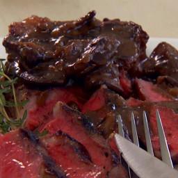 Rib Eye Steaks with Mushroom Sauce