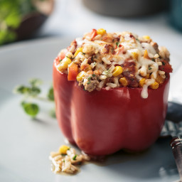 Rice and Turkey Stuffed Peppers
