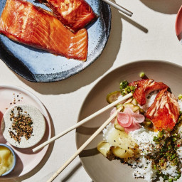 Rice Bowls with Smoked Fish