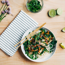 Rice Noodle Salad with Quick Tahini-Lime Dressing