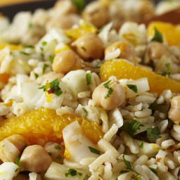 Rice Salad with Fennel, Orange, and Chickpeas
