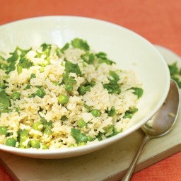 Rice with Peas and Cilantro