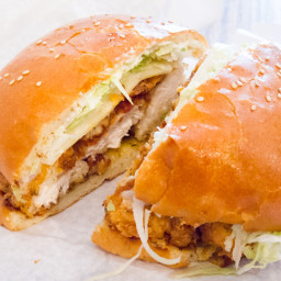Rick Bayless Fried Chicken Tender Torta (sandwich)