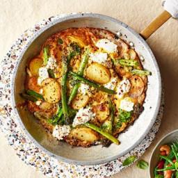 Ricotta, broccoli, and new potato frittata
