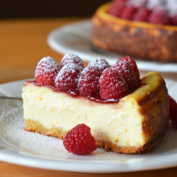 Ricotta Cheesecake with Fresh Raspberries