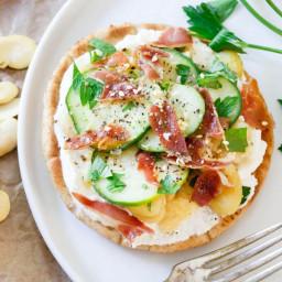 Ricotta Fava Bean Grilled Pita Bites