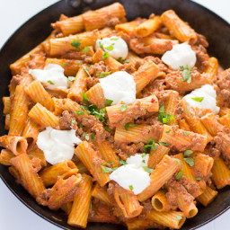 Ricotta Pasta with Beef