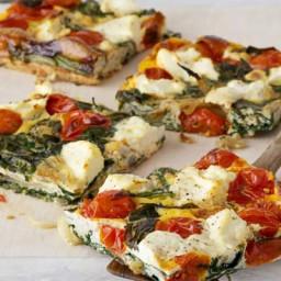 Ricotta, tomato and spinach frittata