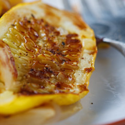 Ridiculously Easy Roasted Yellow Squash and Onions