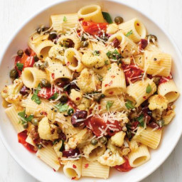 Rigatoni with Cauliflower Puttanesca