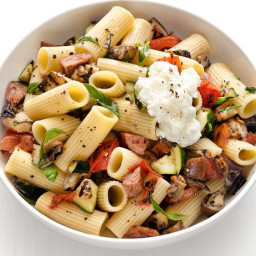 Rigatoni with Grilled Sausage and Vegetables