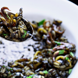 Risotto Nero with Squid