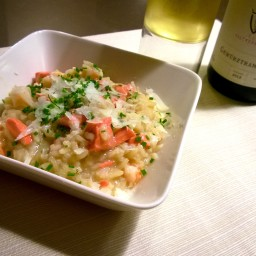 Risotto with Salmon and Shrimps