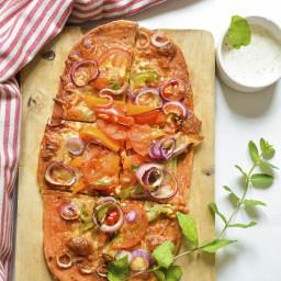 rispy Thin Crust Pizza Recipe | Healthy whole wheat homemade pizza