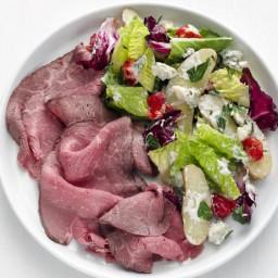 Roast Beef Carpaccio with Gorgonzola Potato Salad