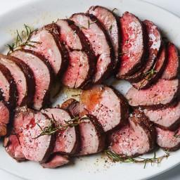 Roast Beef Tenderloin with Garlic and Rosemary