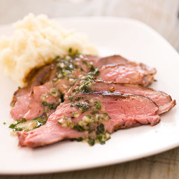 Roast Butterflied Leg of Lamb with Coriander, Cumin, and Mustard Seeds