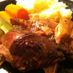 Saucy Roast Chicken in the Slow Cooker