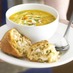 Roast chicken soup