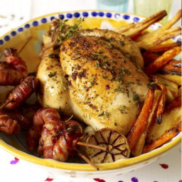 Roast chicken with all the trimmings