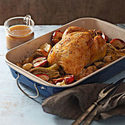 Roast Chicken with Apples, Fennel, and Italian Beer Sauce