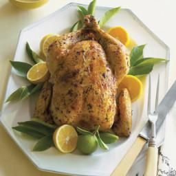 Roast Chicken with Meyer Lemon Shallot Sauce