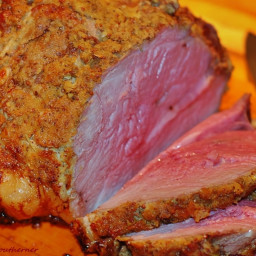 Roast Leg of Lamb with Garlic Rosemary Dijon Crust