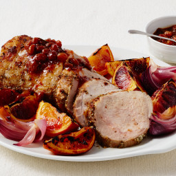 Roast Pork Loin with Blood Orange Mostarda