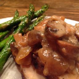 Roast Pork with Apples and Mushrooms