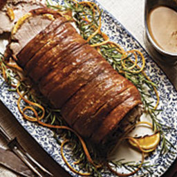 Roast Pork with Crisp Crackling and Red Currant Gravy