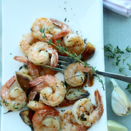 Roast Shrimp with Garlic and Thyme