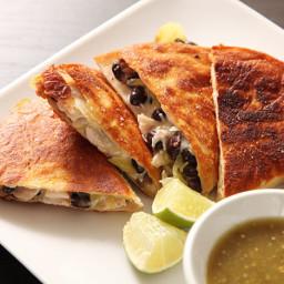 Roast Turkey and Black Bean Quesadillas Recipe