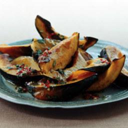 Roasted Acorn Squash with Chile Vinaigrette