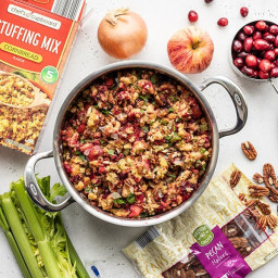 Roasted Apple Cranberry Cornbread Stuffing