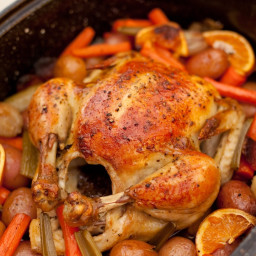 Roasted Apricot Chicken with Herbs de Provence ~ An Organic Kitchen Favor