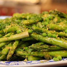 Roasted Asparagus and Peas