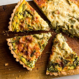 Roasted Asparagus and Scallion Quiche