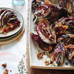 Roasted Balsamic Radicchio with Pancetta and Walnuts