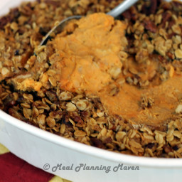 Roasted Banana 'n Sweet Potato Mash with Pecan Streusel