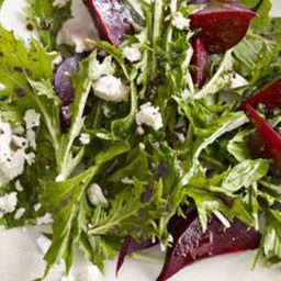 Roasted Beet and Mizuna Salad