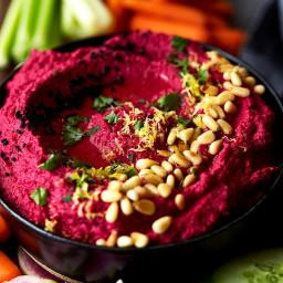 Roasted Beet Cauliflower Hummus