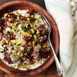 Roasted-Beet Salad With Horseradish Crème Fraîche and Pistachios Recipe