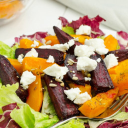 Roasted Beet Salad with Oranges and Beet Greens