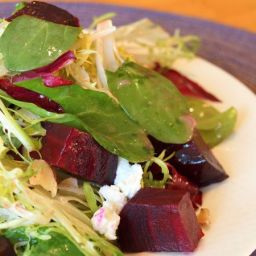Roasted Beet Salad with Walnuts, Goat Cheese & Honey-Dijon Vinaigrette