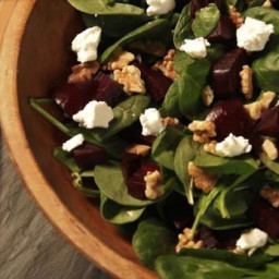 Roasted Beet Salad with Walnuts and Goat Cheese